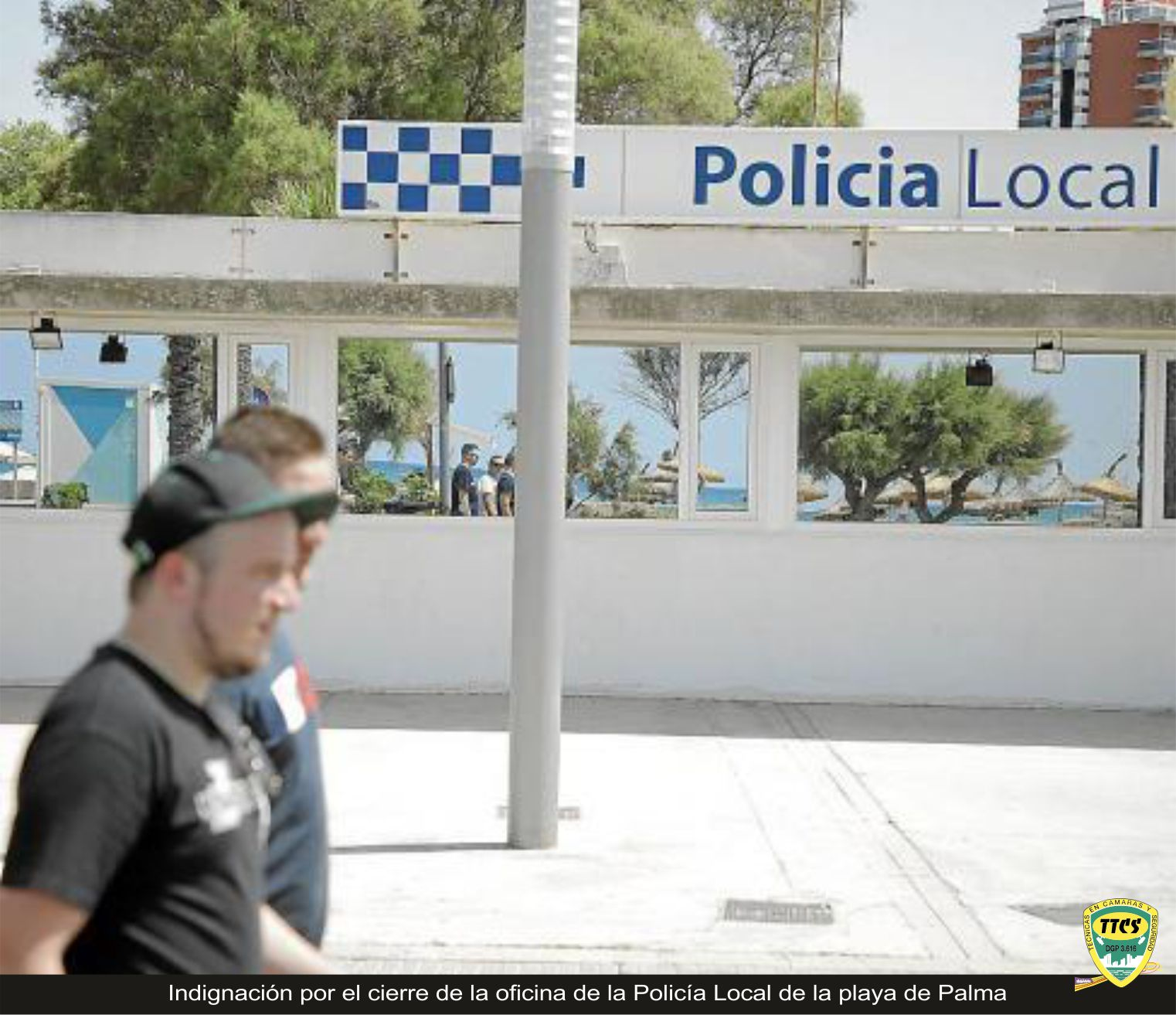 TTCS Cierre Policia Local playa palma