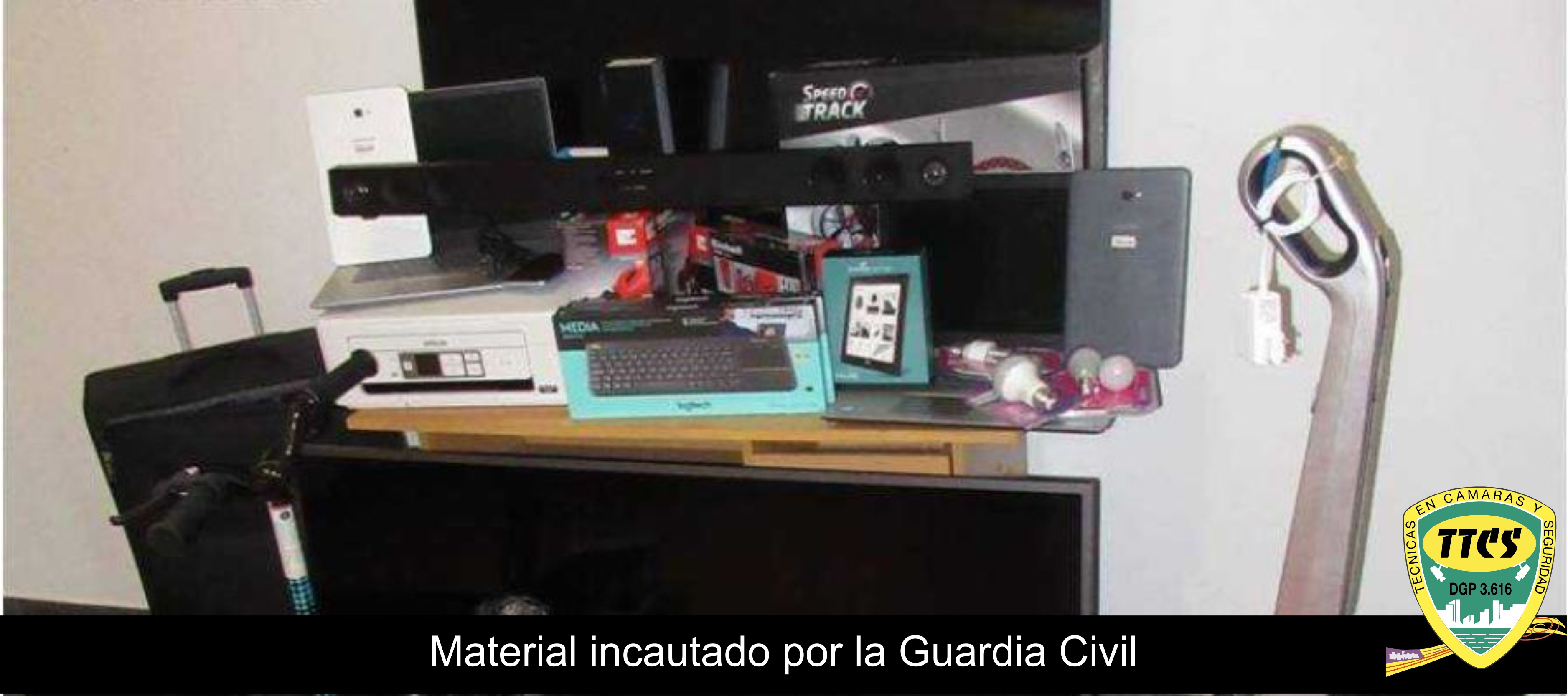 TTCS Material incautado Guardia Civil